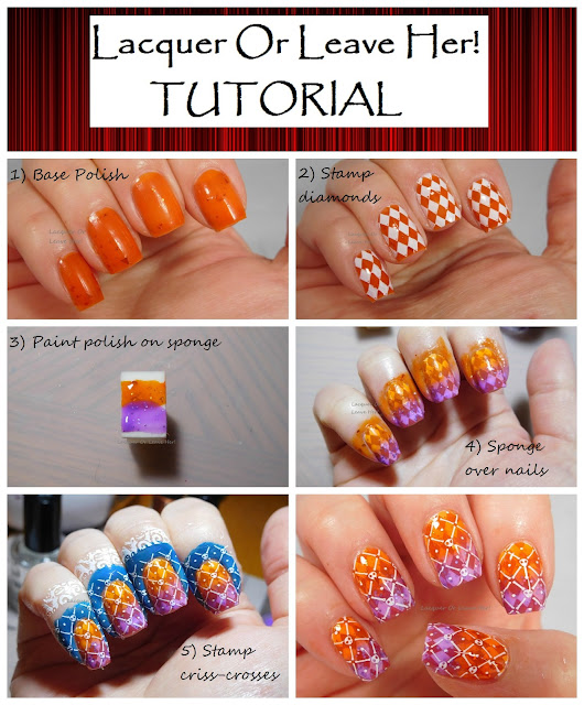 Tutorial: Halloween Harlequin with UberChic Beauty Halloween 02 & Spellbound Nails Crookshanks + The Knight Bus