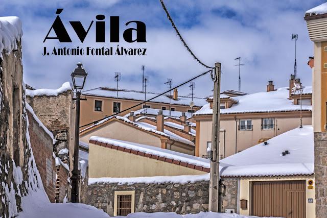 Fotografía de Ávila creada por el artista by J. Antonio Fontal Álvarez