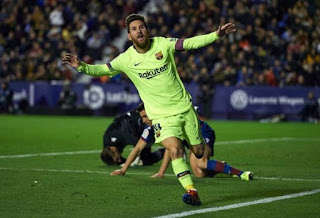 Barca Put Five Goals Past Levante