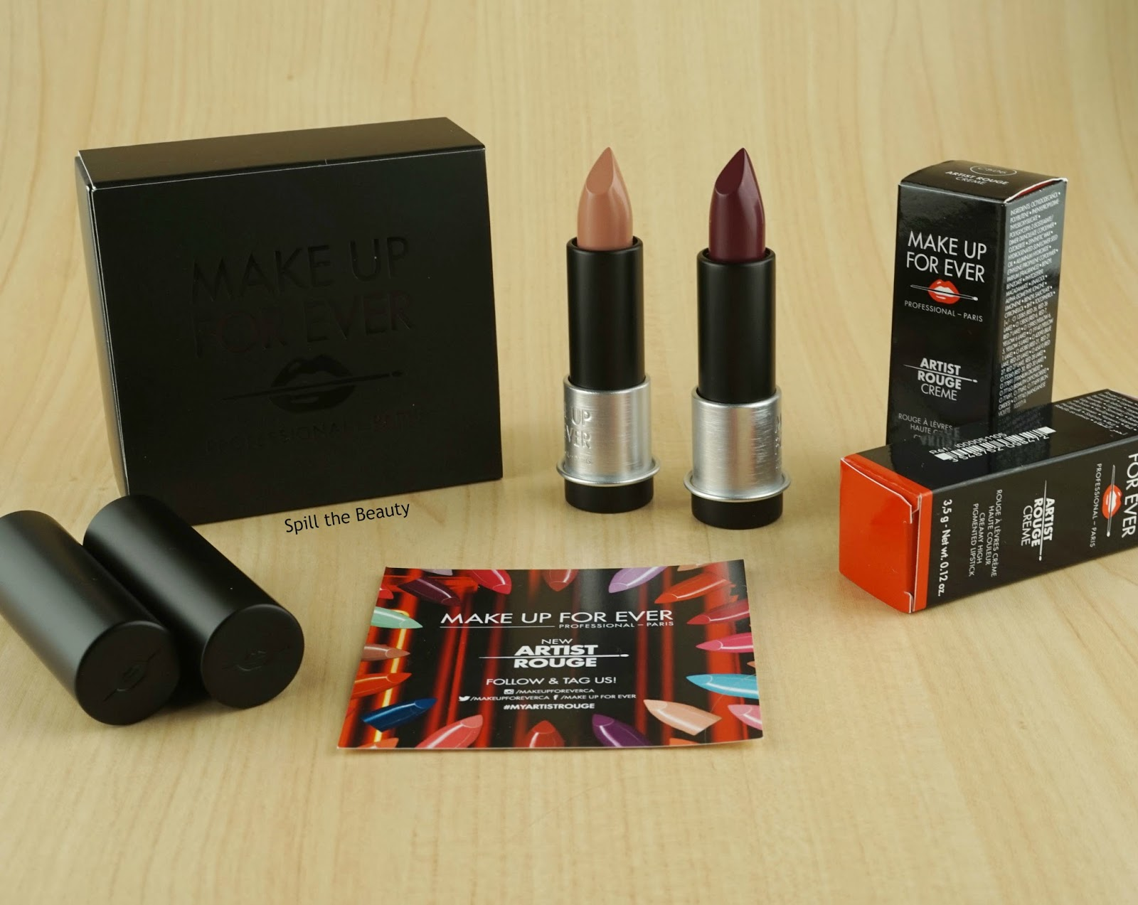 MAKE UP FOR EVER Artist Rouge lipstick C506 C105 review swatches