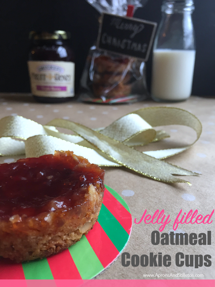 Jelly filled Oatmeal Cookie Cups