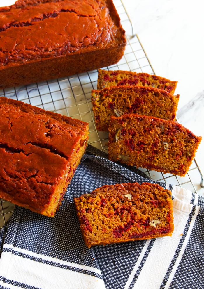 Beets & Turmeric Quick Bread