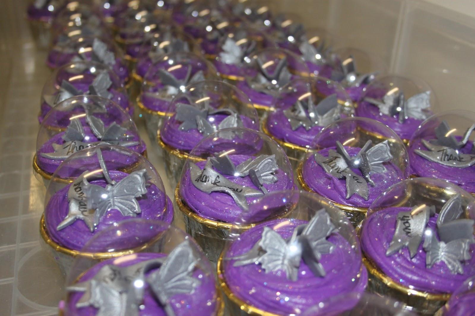 Happiness sweets  treats Purple  Silver wedding cake