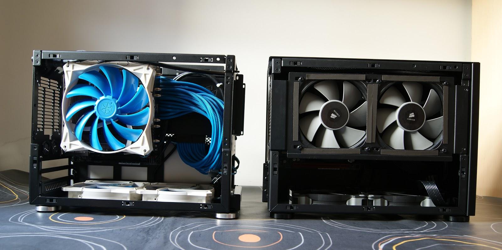 Ventiladores de Minimax3 vs Minimax1 - caja NCASE M1