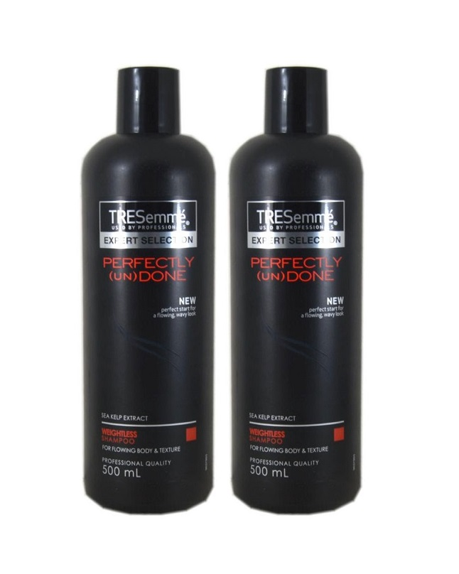 Pack of 2 Tresemme Perfectly (Un)Done Shampoo 500 ml