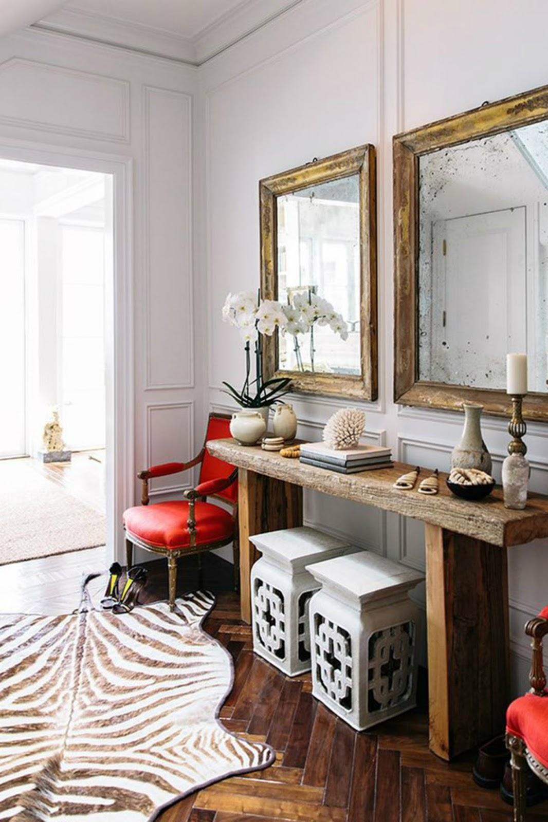 zebra rug asian modern interior design decor wall trim