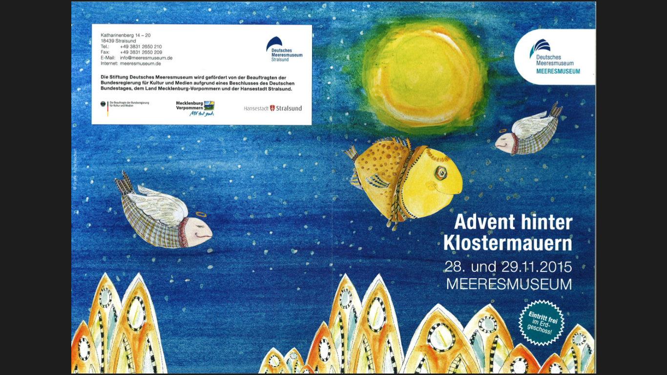 Advent hinter klostermauern im meeresmuseum stralsund for Kuchen stralsund