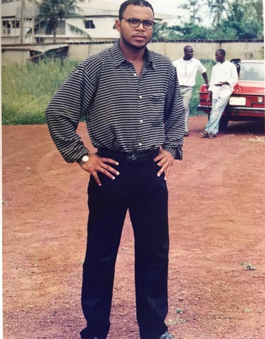 Check out this epic throwback pic of Ramsey Nouah on movie set