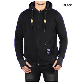 JAKET FLEECE PRIA ZURREL FULL BLACK