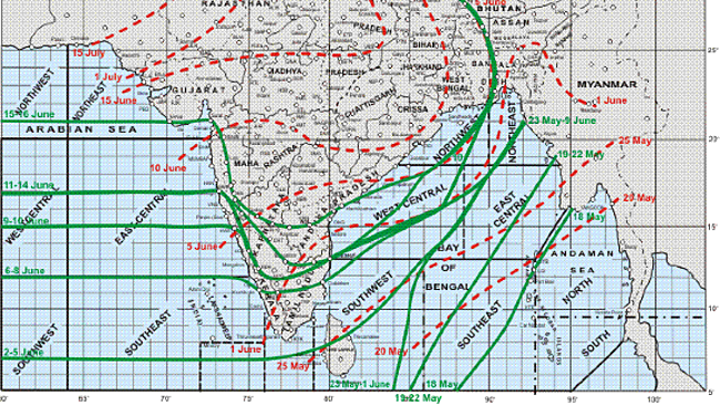 Rajan's Take: Climate Change: Accuweather: India Monsoon progress