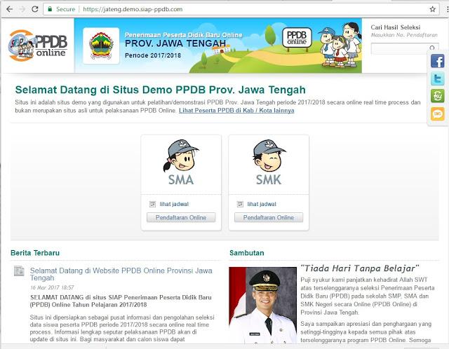 Selamat Datang di Situs Demo PPDB Prov. Jawa Tengah