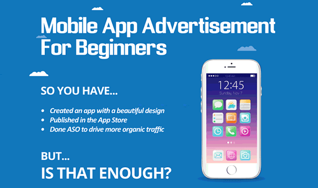 Mobile App Advertisement for Beginners