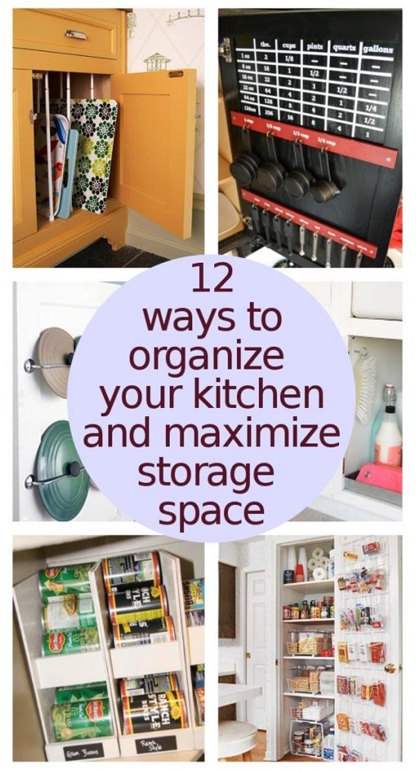 Organize Your Kitchen To Maximize Storage