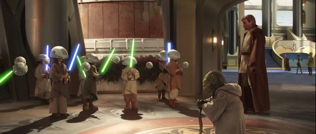Pequeños padawans en la escuela de Jedis