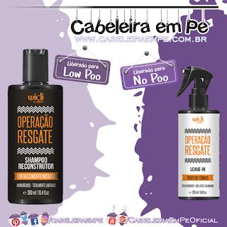 Shampoo e Leave in Operação Resgate - Widi Care