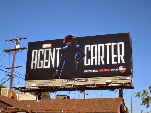 Agent Carter series premiere billboard