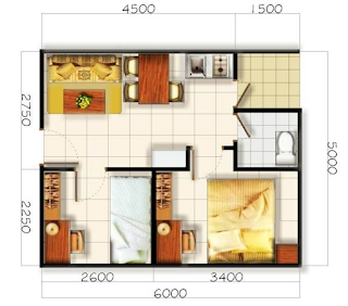 Merancang denah rumah minimalis 2 kamar