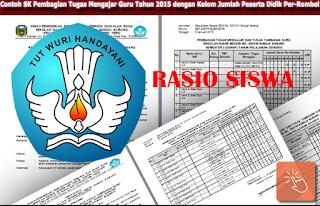 SK Pembagian Tugas Mengajar Rasio Siswa 2016/2017
