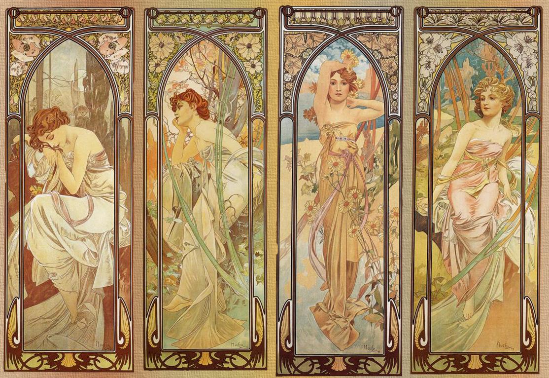 Art Nouveau Decorative Tiles
