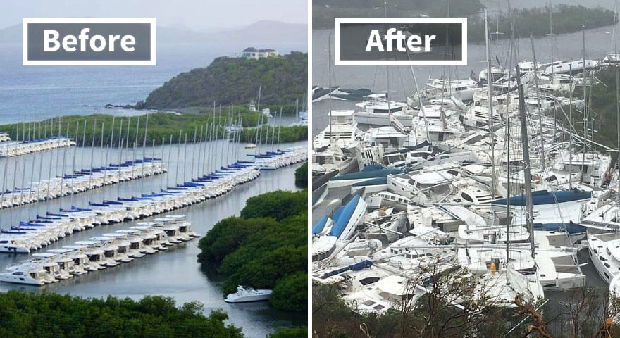 30 Shocking Pictures That Show How Catastrophic Hurricane Irma Is - Paraquita Bay (Before And After Irma Damage)