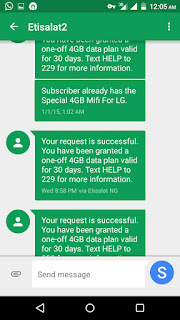 Etisalat free 4GB Data awooof keep dialing *8186*1#