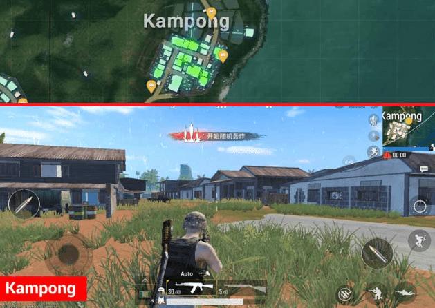 Kampong Lokasi Terbaik di Map Sanhok PUBG Mobile
