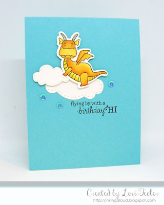 Flying By with a Birthday Hi card-designed by Lori Tecler/Inking Aloud-stamps from Taylored Expressions