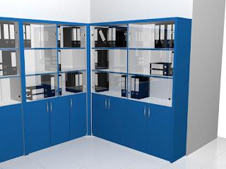 furniture semarang - Filing Cabinet System Moveable - Lemari Dokumen Kantor Dengan Roda Bisa Digeser Pintu Kaca