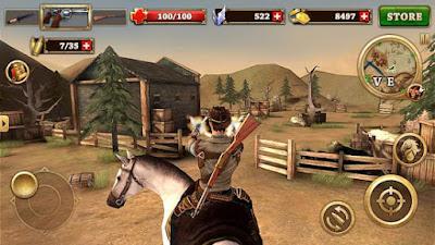 لعبة West Gunfighter مهكرة للأندرويد، لعبة West Gunfighter كاملة للأندرويد