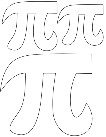 Click to see printable version of Pi Symbol Coloring page
