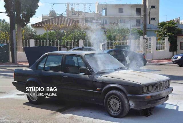 Αργολίδα: Πυρκαγιά σε αυτοκίνητο στο Νέα Κίο