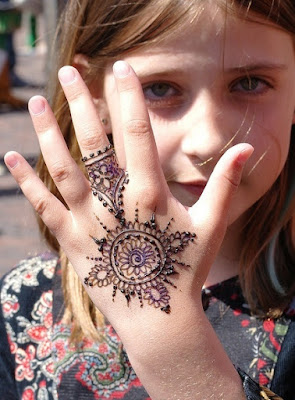 Cute Girl With Henna Tattoos