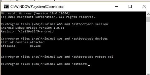 reboot edl mode