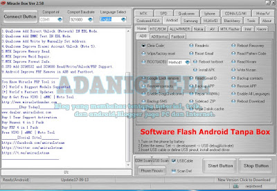 Software Flash Android Tanpa Box