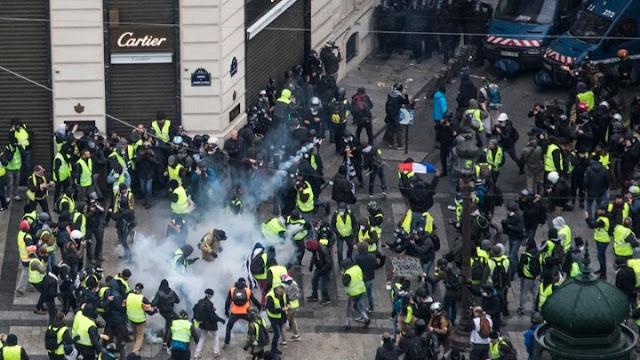 481 προσαγωγές στο Παρίσι - 211 άτομα τέθηκαν υπό προσωρινή κράτηση (LIVE)