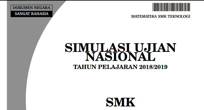 Soal Simulasi Unbk Smk 2019