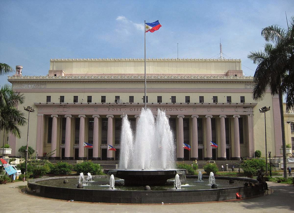 Center Hall Colonial House Plans Arquitectura Manila Manila Central Post Office Building