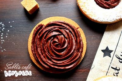 sablés chocolat jaune d'oeuf