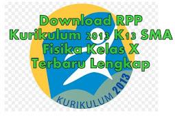 Download RPP Kurikulum 2013 K13 SMA Fisika Kelas X Terbaru Lengkap