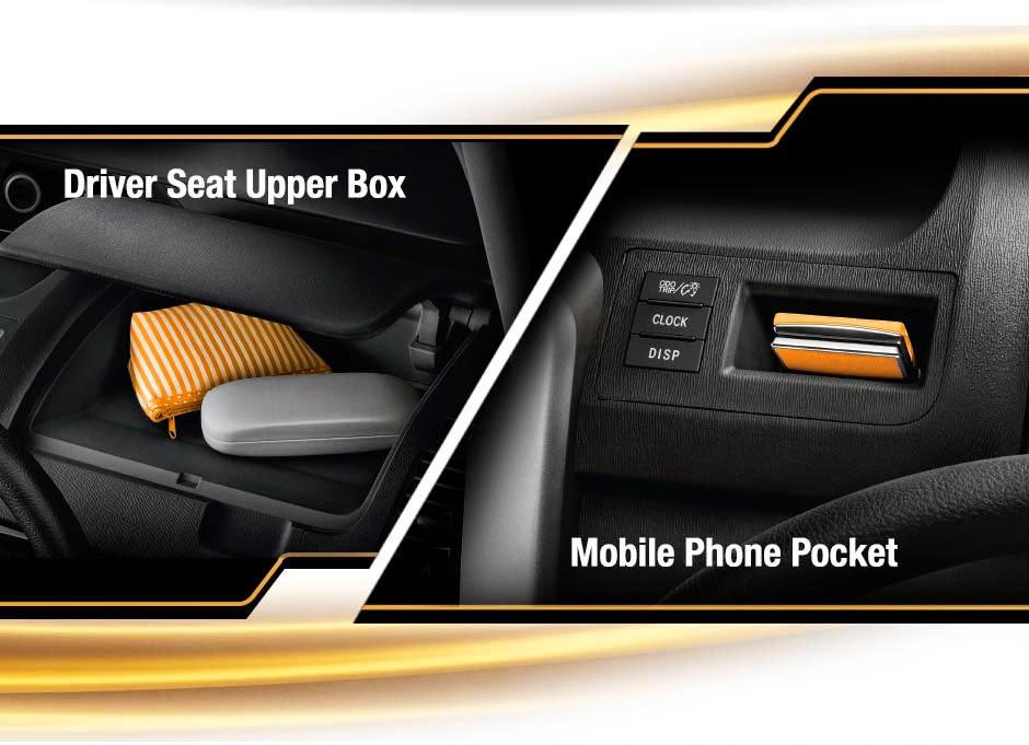 driver seat upper box