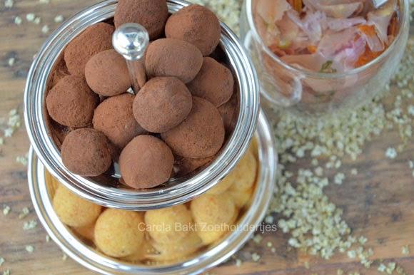 vlierbloesem en lime truffels