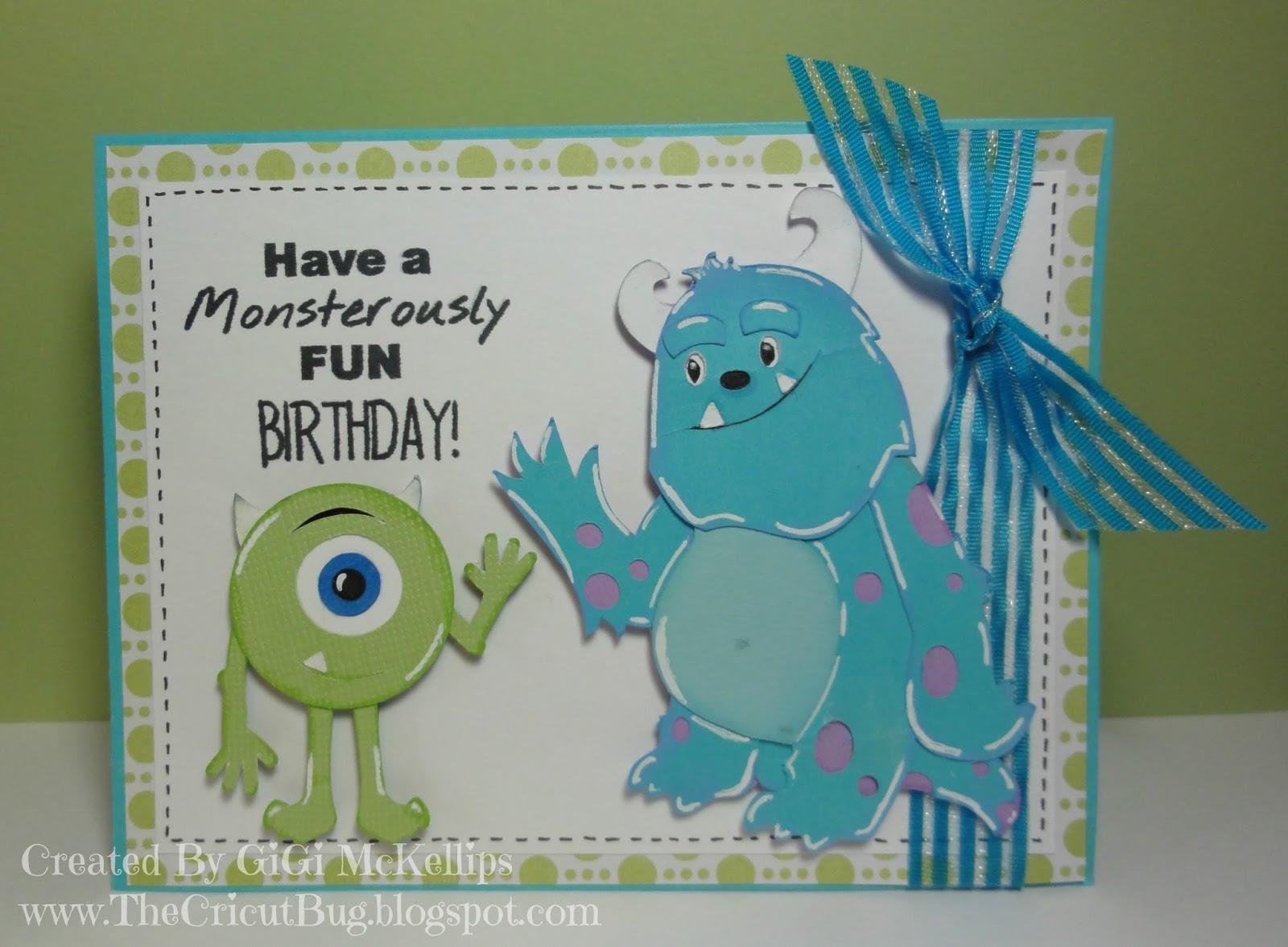 The Cricut Bug Monsters Inc Birthday