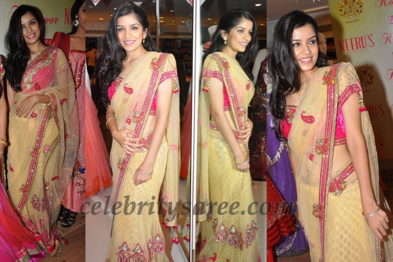 Model Annie in Neerus Saris Collcetion - Saree Blouse Patterns