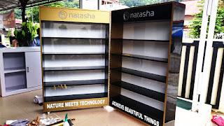 rak display showcase kota padang