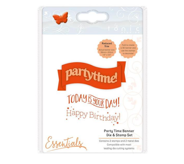 Tonic Banner Die & Stamp Set Party Time