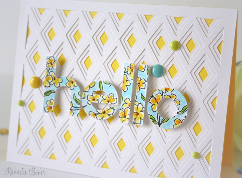hello card silhouette cameo and altenew stamp