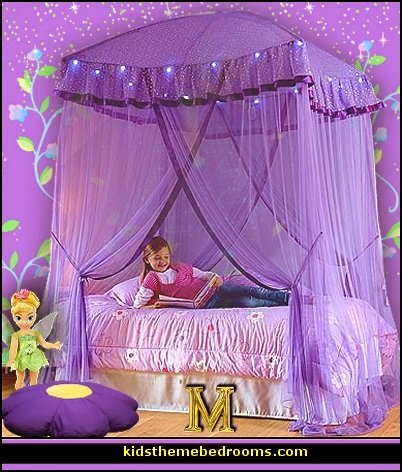 Sparkling Lights Canopy purple bedrooms I Dream of Jeannie theme bedrooms - Moroccan style decorating - Jeannie bedroom harem style - Arabian Nights theme bedrooms - bed canopy - Moroccan stencils - I dream of Jeannie bottle - satin bedding - throw pillows - Moroccan furniture - Aladdin bedroom ideas - Princess Jasmine decor - princess jasmine bedroom ideas -  Arabian princess costume -  Harem Costumes - Satin pillow tassels
