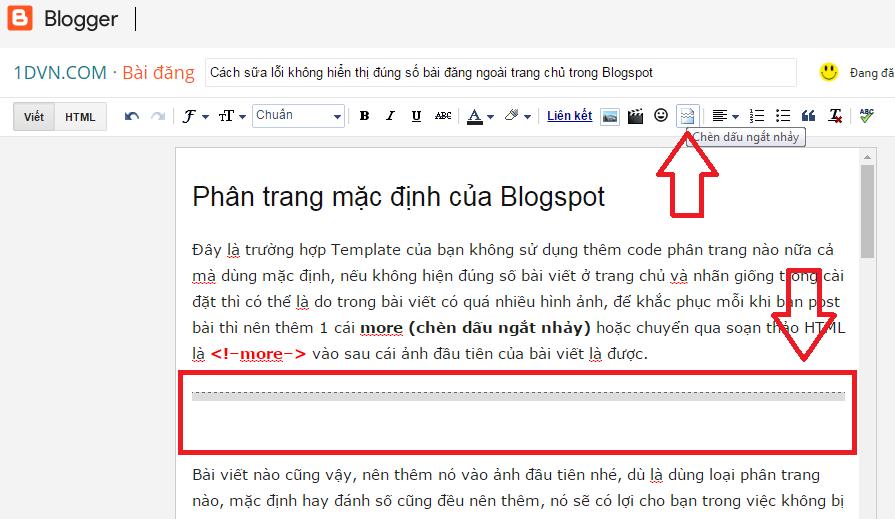 Cách sữa lỗi không hiển thị đúng số bài đăng ngoài trang chủ trong Blogspot