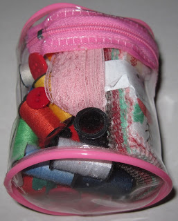 Sewing kit embellished and added to an Operation Christmas Child shoebox.