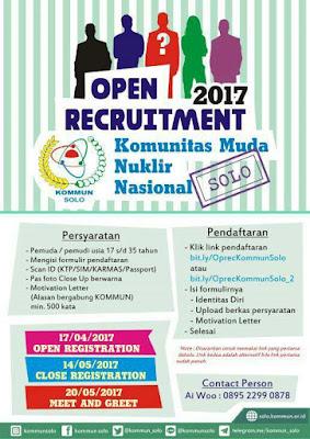 Open Recruitment 2017: KOMMUN Solo